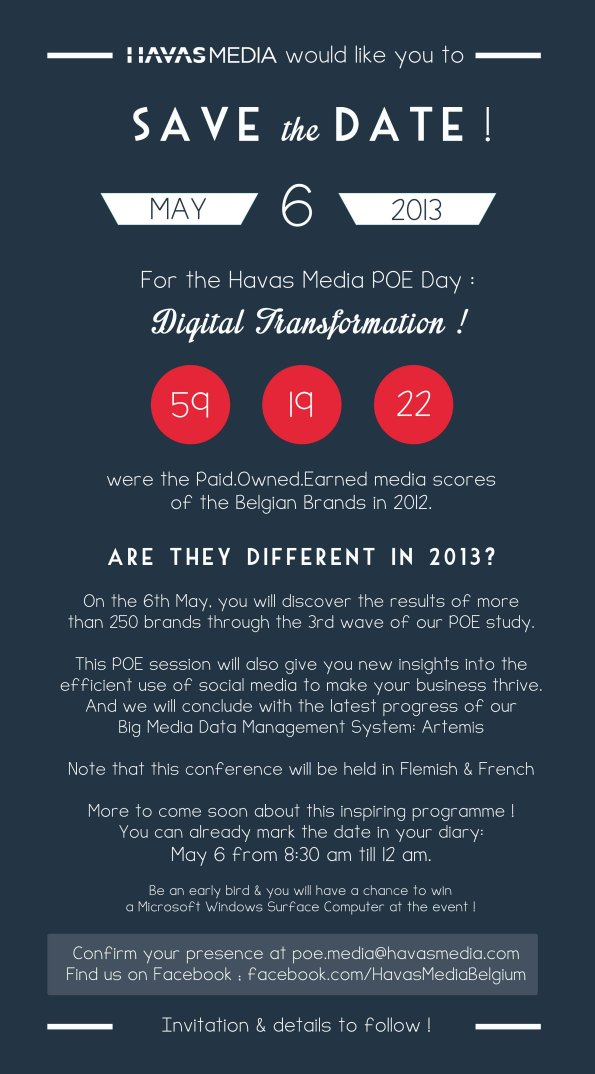 Save the Date: 6th of May 2013 - 3rd POE Day