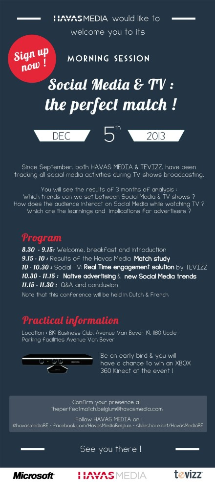 When Social Metrics meet your TV Data - Discover our empowered Social TV planning on the 5th of december