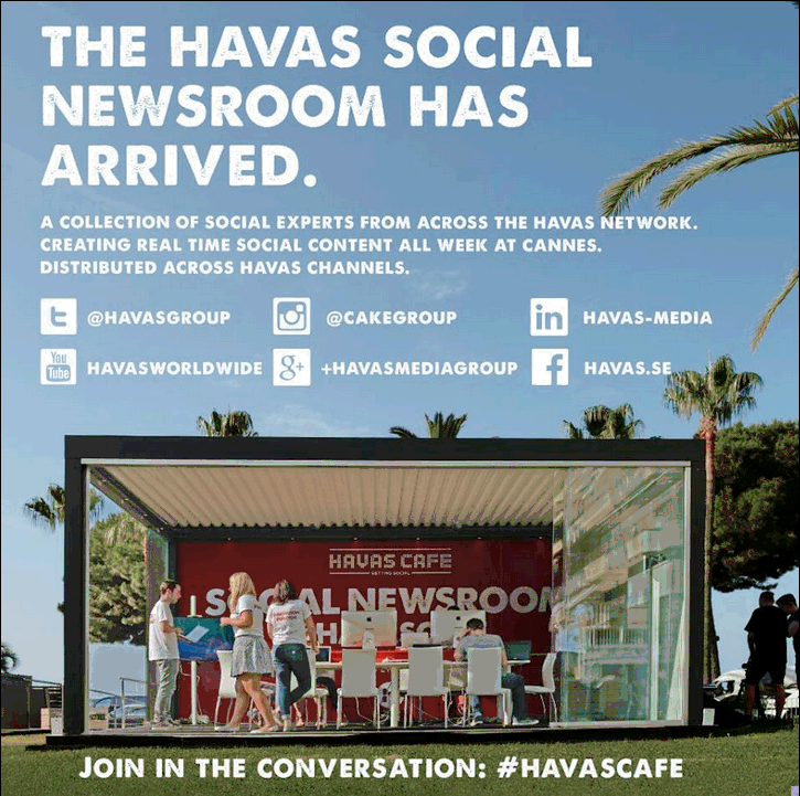 Join In the Cannes conversation: #havascafe