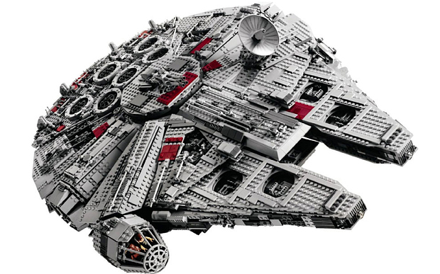 The Ultimate Collector's Millennium Falcon is the most expensive, having gone from a retail price of £342.49 in 2007 to £2,712 today