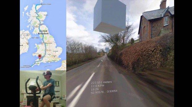 Vélo réalité virtuelle