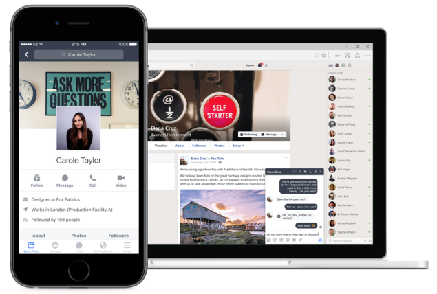 Facebook broadly launched 'Workplace' for businesses and organizations on Monday. (Courtesy of Facebook)
