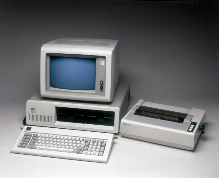 IBM PC Model 5150 with printer, 1981.